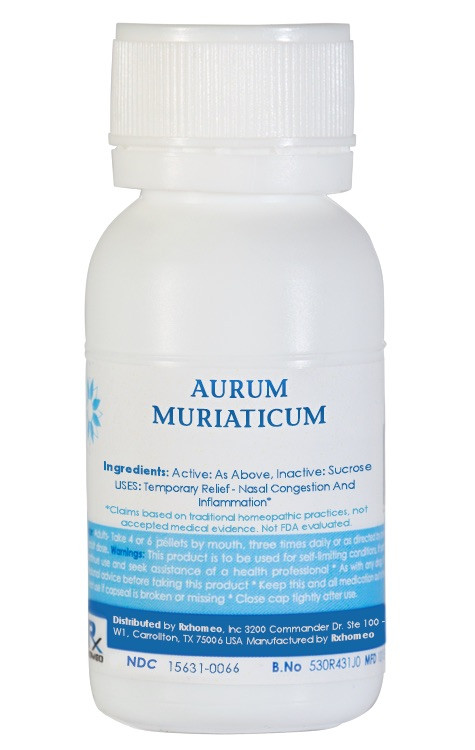 Aurum Muriaticum Homeopathic Remedy