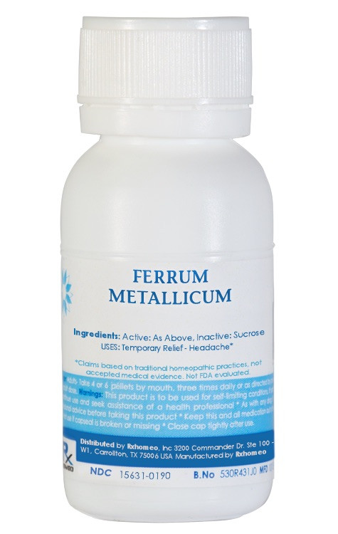 Ferrum Metallicum Homeopathic Remedy