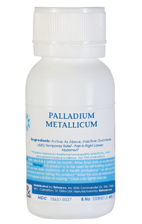 Palladium Metallicum Homeopathic Remedy