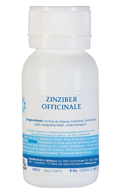 Zingiber Officinale Homeopathic Remedy