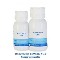 Rxhomeo COMBO # 18 - Sinus; Sinusitis